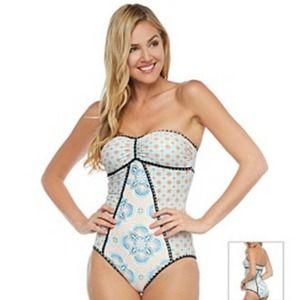 Coco Rave Bandeau One Piece Swimsuit L 36B/C
